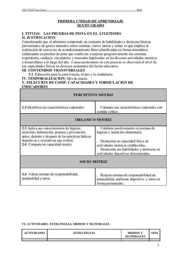 I.E.P. 70 657 Las Cruces                                                        Puno                               PRIMERA...