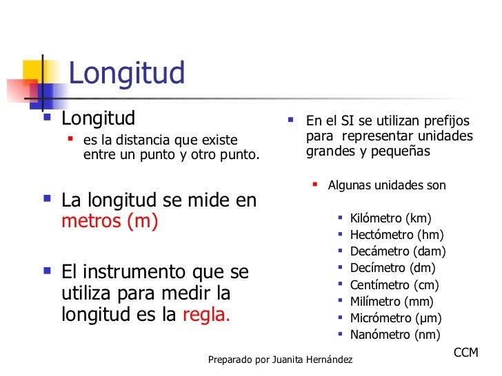 Longitud <ul><li>Longitud  </li></ul><ul><ul><li>es la distancia que existe entre un punto y otro punto. </li></ul></ul><u...