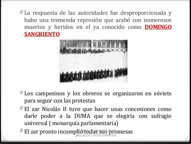 0 La respuesta de las autoridades fue desproporcionada y hubo una tremenda represión que acabó con numerosos muertos y her...