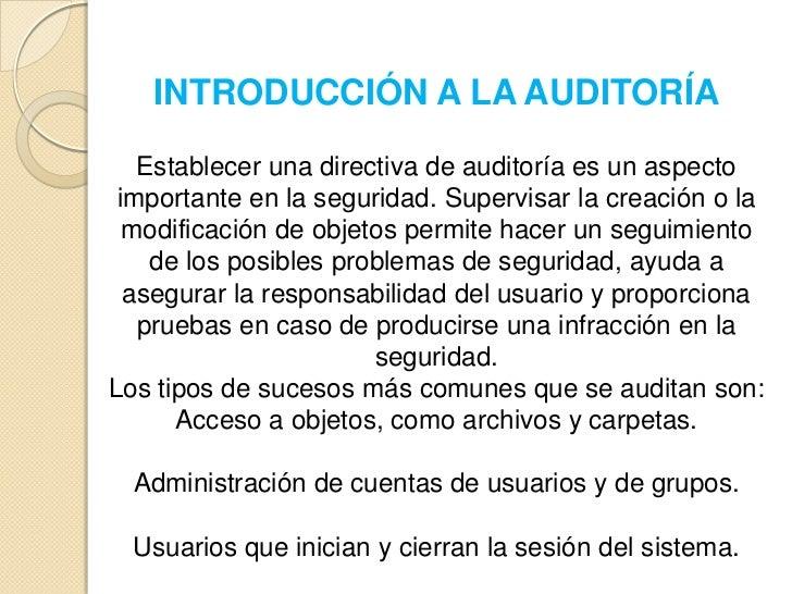 AUDITORIA  Slide 2