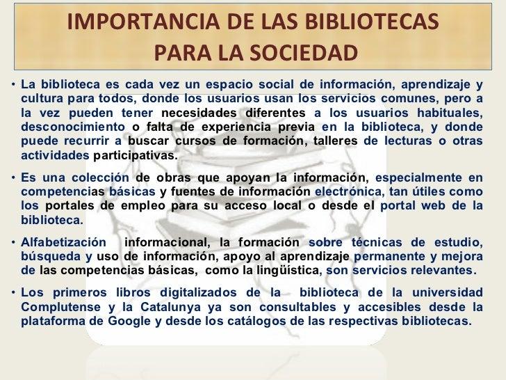 Importancia de la escritura el libro y las biblioteca for Partes de una biblioteca