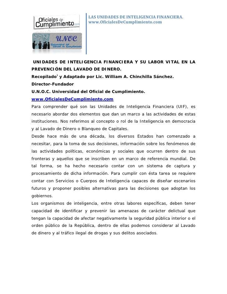 LASUNIDADESDEINTELIGENCIAFINANCIERA.                              www.OficialesDeCumplimiento.com                   ...