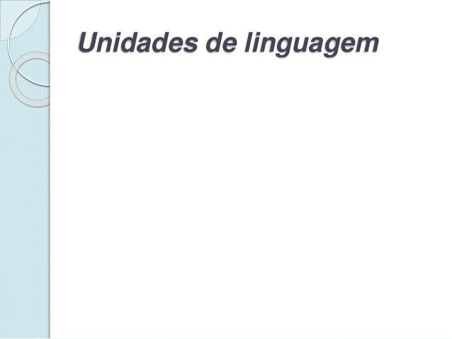 Unidades de linguagem
