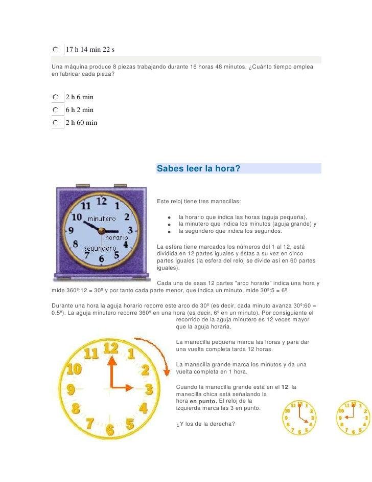 Unidades de medida del tiempo - Tiempo en badalona por horas ...