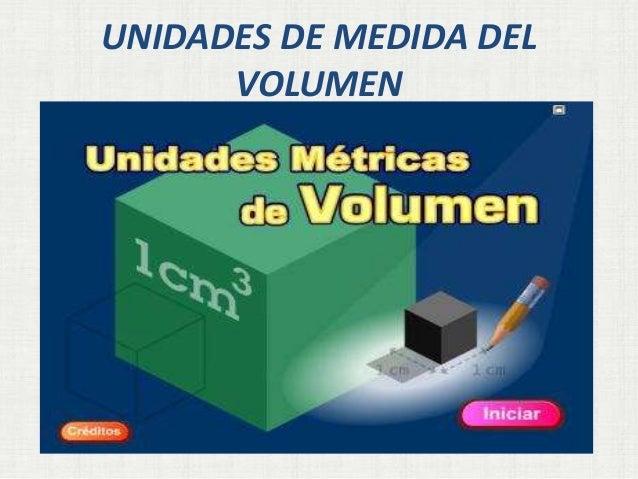 UNIDADES DE MEDIDA DEL VOLUMEN