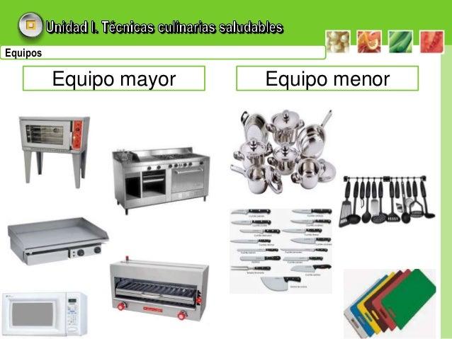 unidades i ii y iii On equipo mayor y menor de cocina pdf