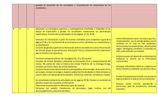 guiando el desarrollo de las actividades y respondiendo las inquietudes de los estudiantes. S 6 1 Aplicando las estrategia...