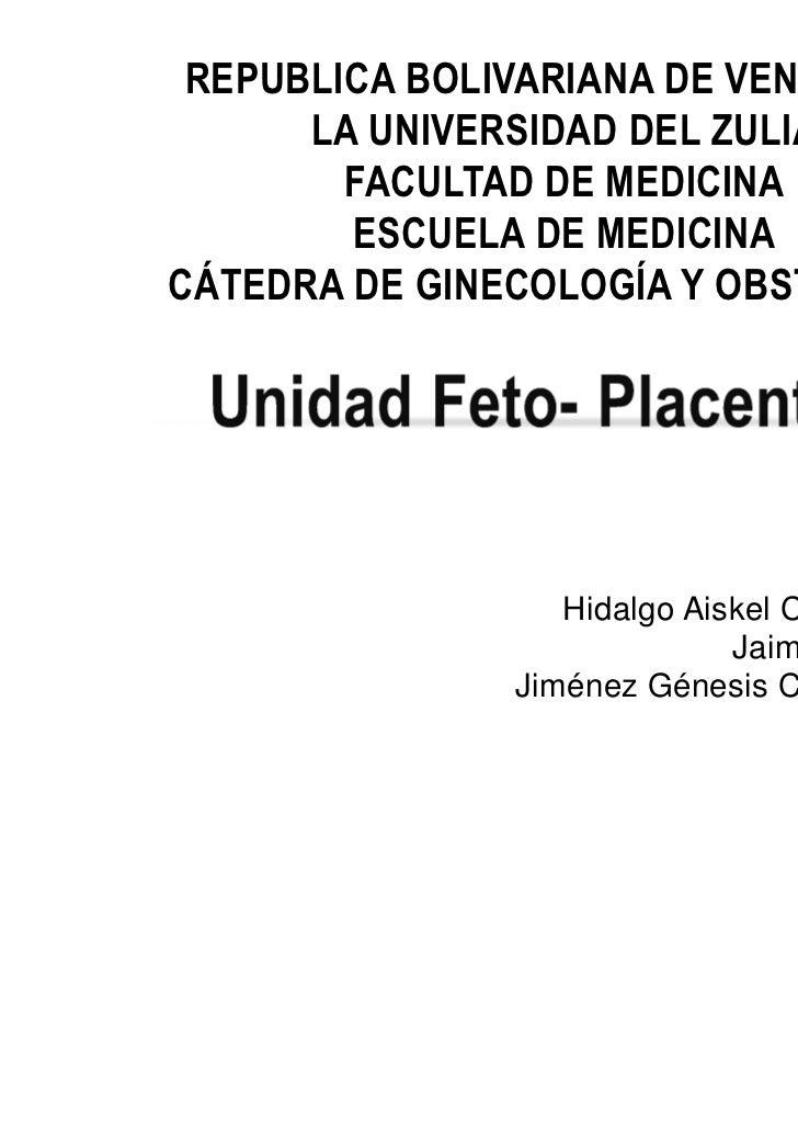 REPUBLICA BOLIVARIANA DE VENEZUELA      LA UNIVERSIDAD DEL ZULIA        FACULTAD DE MEDICINA        ESCUELA DE MEDICINACÁT...