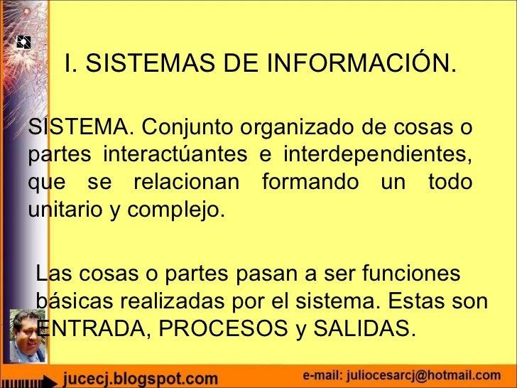 UNIDAD I: Los sistemas de información Slide 3