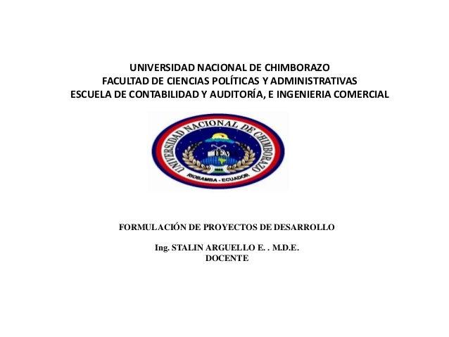 UNIVERSIDAD NACIONAL DE CHIMBORAZO FACULTAD DE CIENCIAS POLÍTICAS Y ADMINISTRATIVAS ESCUELA DE CONTABILIDAD Y AUDITORÍA, E...