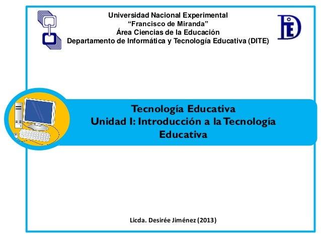 """Universidad Nacional Experimental """"Francisco de Miranda"""" Área Ciencias de la Educación Departamento de Informática y Tecno..."""