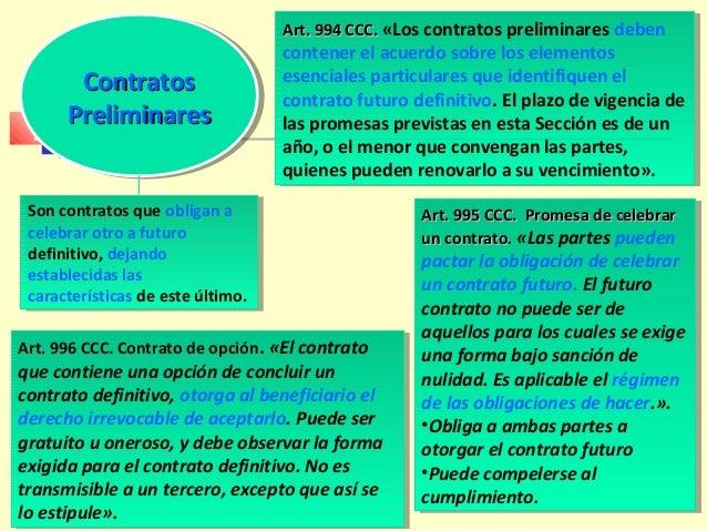 Contrato sujeto a conformidadContrato sujeto a conformidad  Art. 999 CCC. «El contrato cuyo perfeccionamiento depende de ...