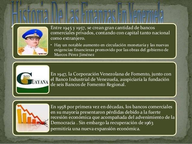 Historia De Las Finanzas En Venezuela