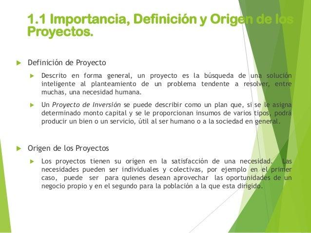 unidad i concepto e importancia de los proyectos de inversion