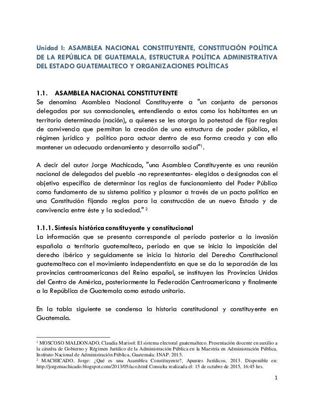 Unidad 1 Asamblea Nacional Constituyente