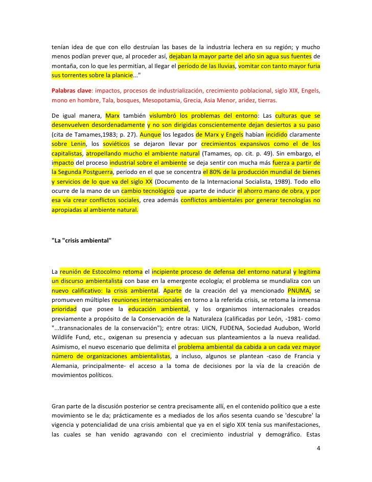 Unidad i etapas del discurso ambiental en el tema del desarrollo