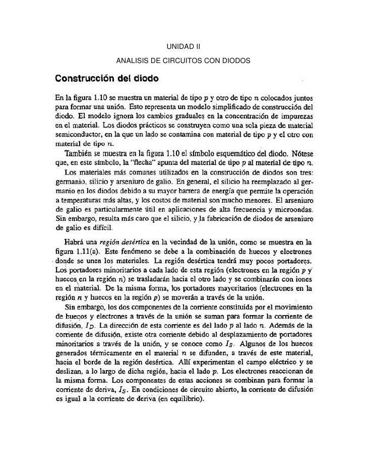 UNIDAD II<br />ANALISIS DE CIRCUITOS CON DIODOS<br />CARACTERISTICA TENSION CORRIENTE DE UN DIODO<br />CARACTERISTICA DE T...