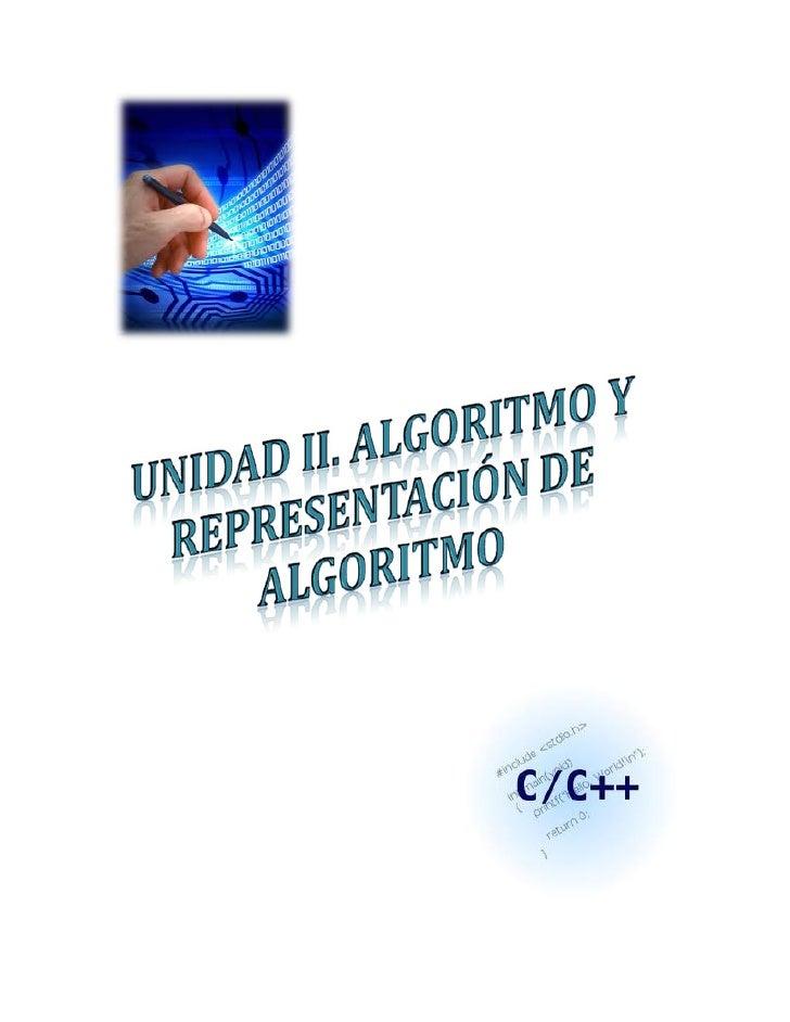 Unidad II. Representación de Algoritmo                 Licda Leidy Mendoza