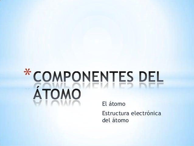El átomoEstructura electrónicadel átomo*