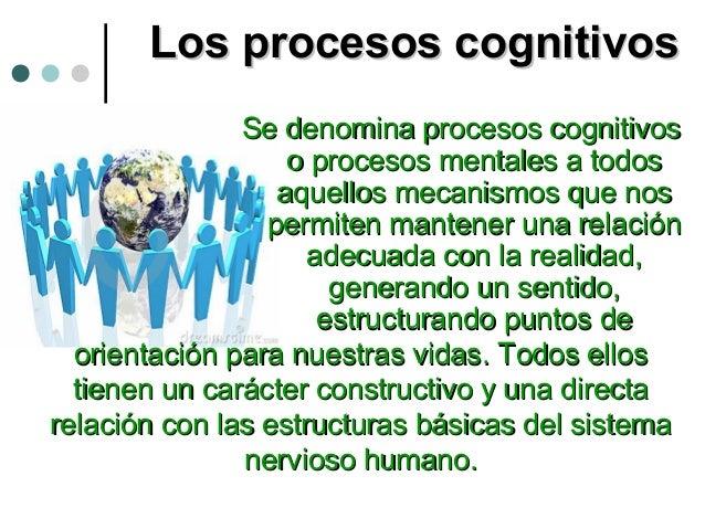 Los procesos cognitivosLos procesos cognitivos Se denomina procesos cognitivosSe denomina procesos cognitivos o procesos m...