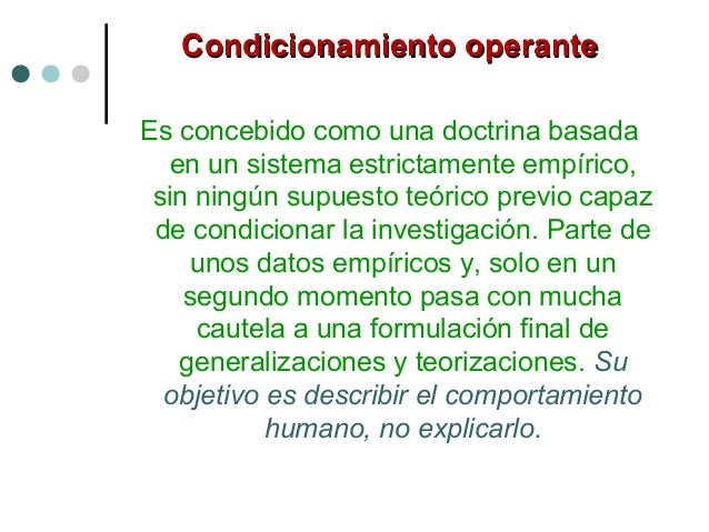 Refuerzo negativoRefuerzo negativo Este reforzamiento opera de manera contraria al anterior, suprime o elimina las consecu...