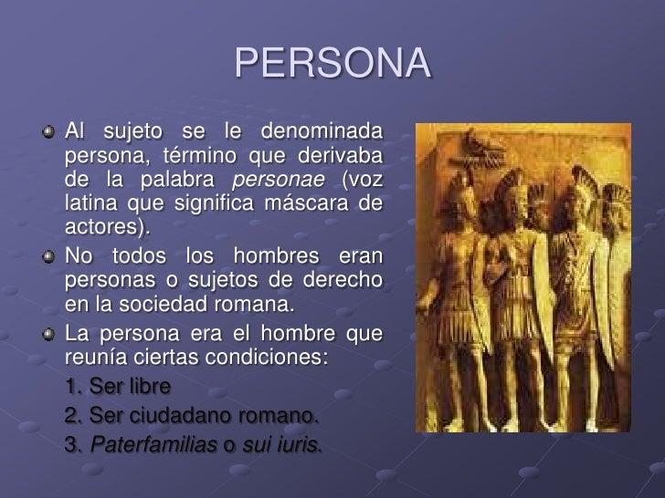ded9b6975c8c Unidad II Concepto de Personas en el Derecho Romano