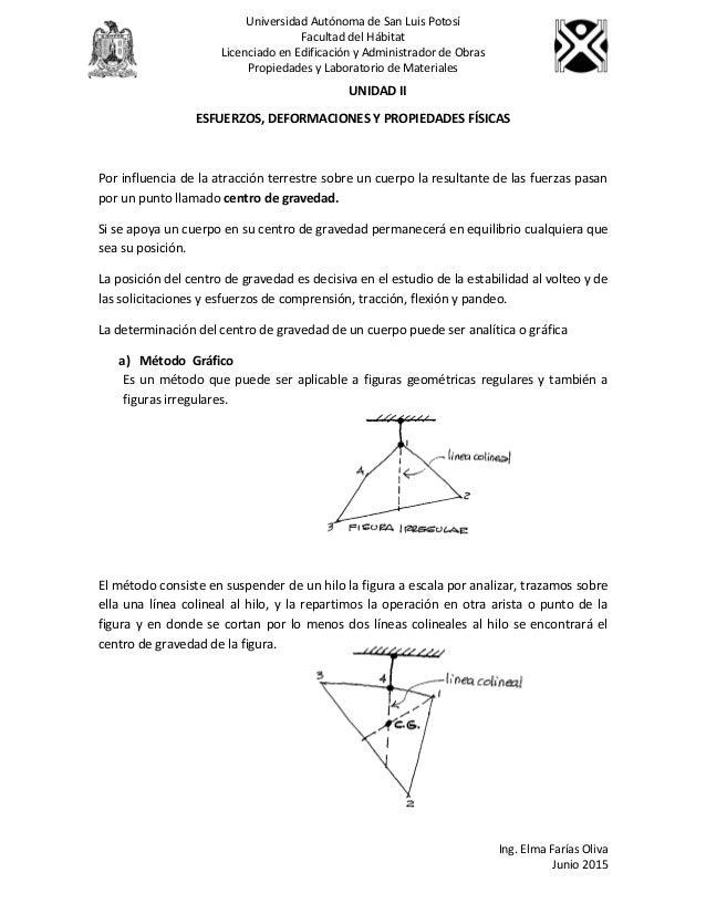 unidad ii esfuerzos deformaciones y propiedades fisicas