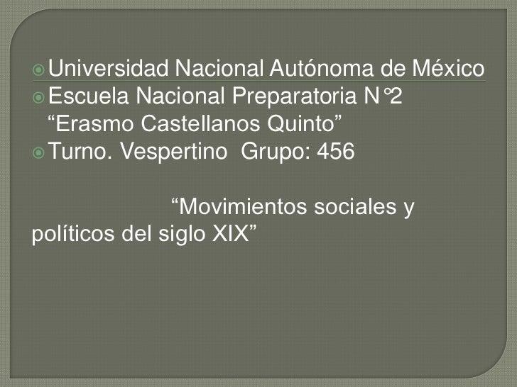 " UniversidadNacional Autónoma de México Escuela Nacional Preparatoria N°2  ""Erasmo Castellanos Quinto"" Turno. Vespertin..."