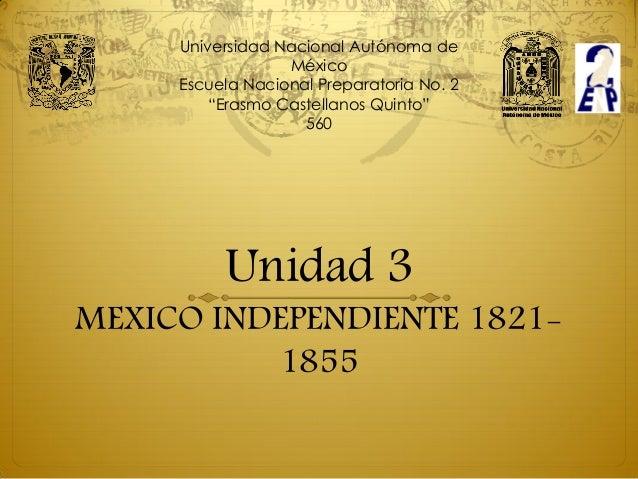 """Universidad Nacional Autónoma de                  México     Escuela Nacional Preparatoria No. 2         """"Erasmo Castellan..."""
