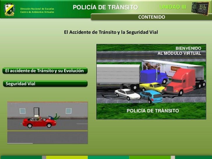 Dirección Nacional de Escuelas       POLICÍA DE TRÀNSITO                        UNIDAD IIICentro de Ambientes Virtuales   ...