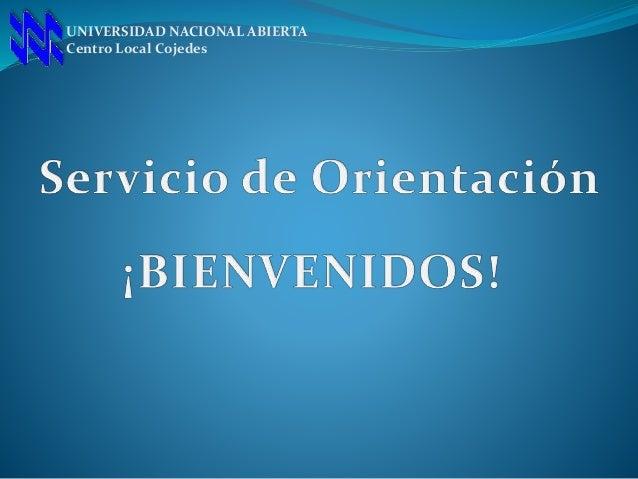 UNIVERSIDAD NACIONAL ABIERTA Centro Local Cojedes