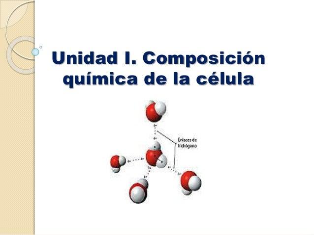 Unidad i composicion qu mica de la celula for La quimica en la gastronomia
