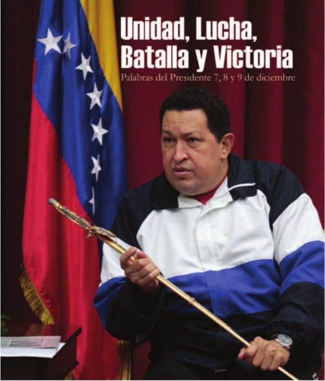 Hugo Rafael Chávez Frías Presidente de la República Bolivariana de Venezuela Carmen Meléndez Rivas Ministra del Poder Popu...