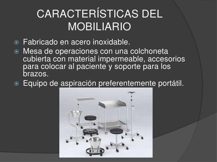 unidad quir rgica y mobiliario de una sala quir rgica On caracteristicas del mobiliario