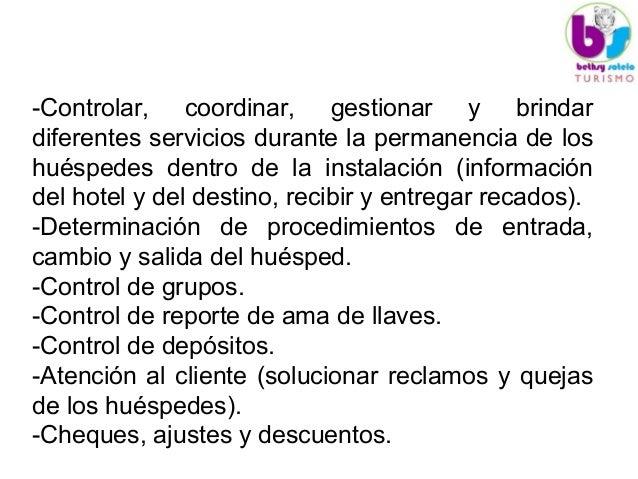 Unidad v 1 departamento de recepcion for Salida de envio de oficina de cambio de destino