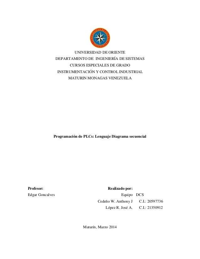 Unidad    v tema 9  equipo dcs  plc  diagramas secuenciales