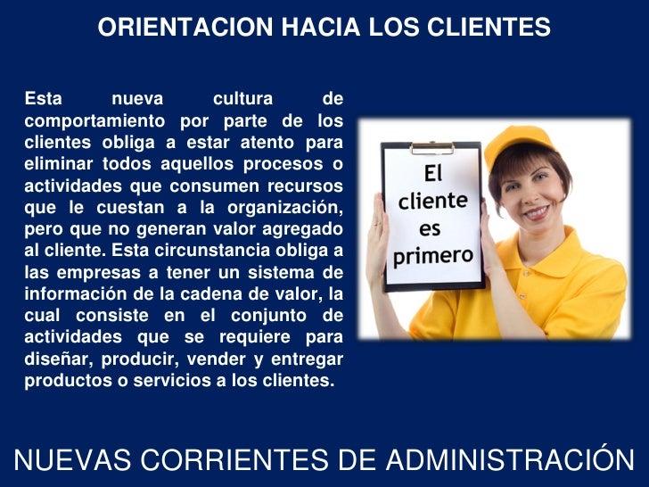 ORIENTACION HACIA LOS CLIENTESEsta        nueva      cultura      decomportamiento por parte de losclientes obliga a estar...