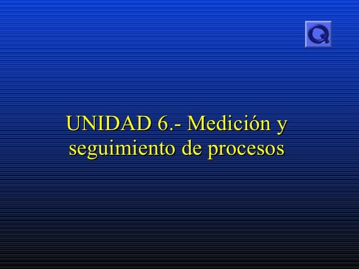 UNIDAD  6.-  Medición y seguimiento de procesos