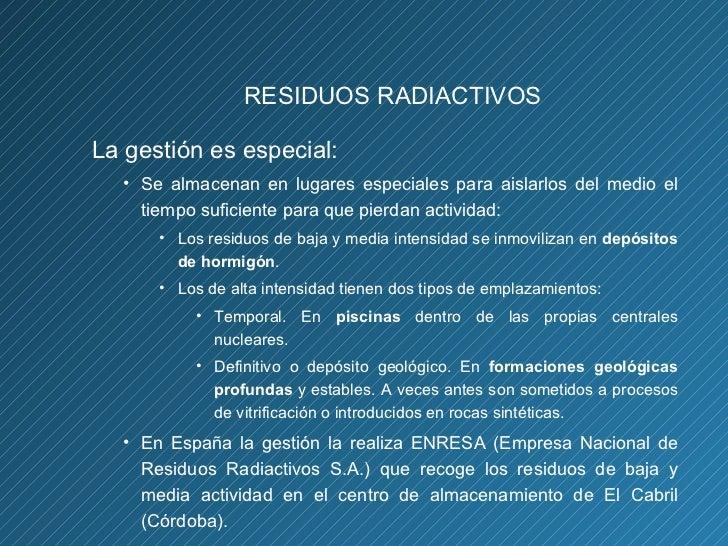 Resultado de imagen de Empresa Nacional de Residuos Radiactivos S.A.