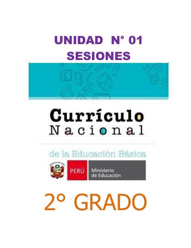 2° GRADO UNIDAD N° 01 SESIONES