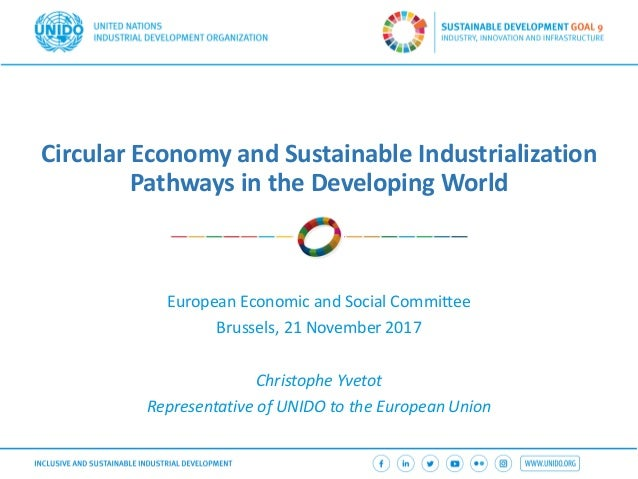 Circular Economy and Sustainable Industrialization Pathways in the Developing World European Economic and Social Committee...