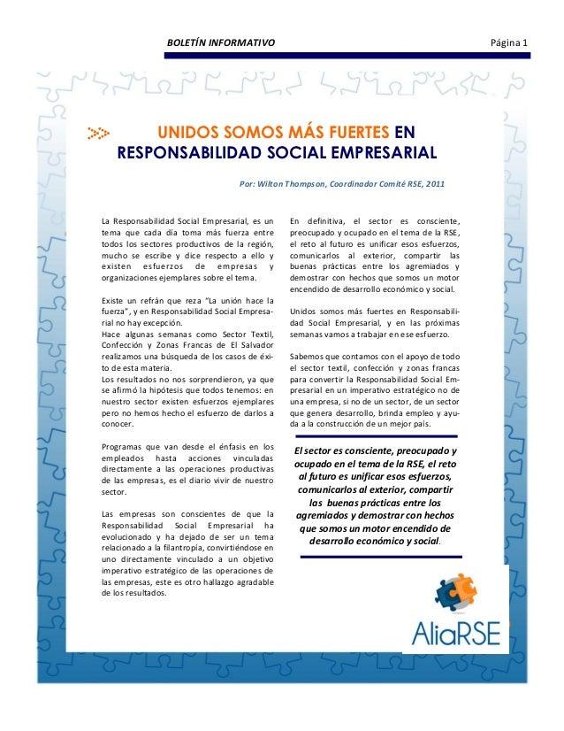 BOLETÍN INFORMATIVO                                                              Página 1        UNIDOS SOMOS MÁS FUERTES ...
