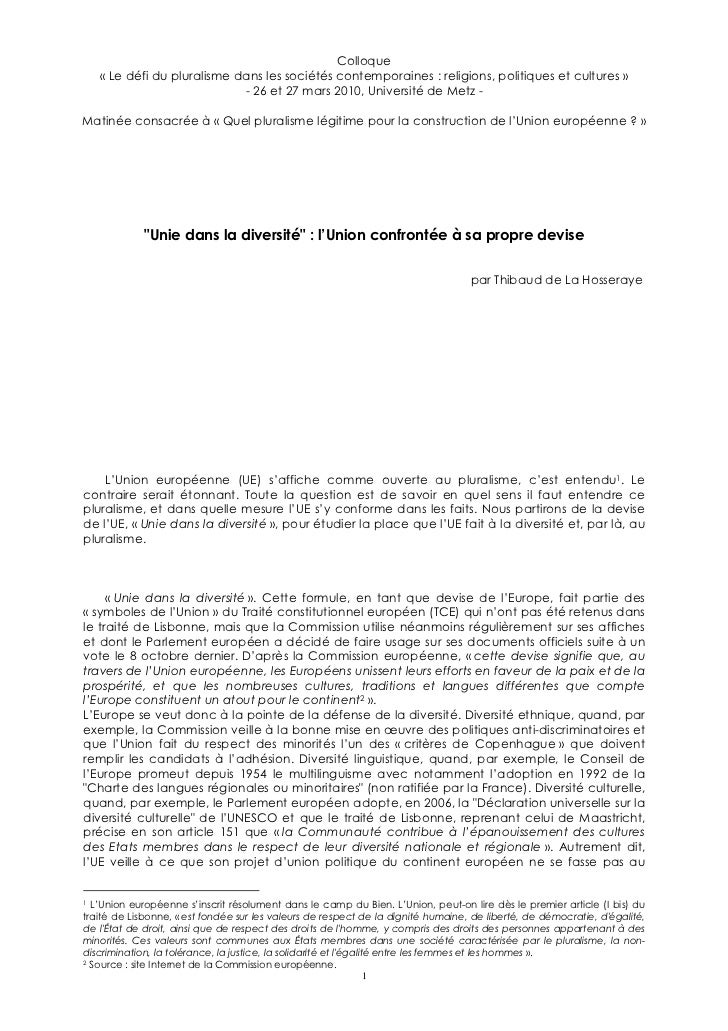Colloque    « Le défi du pluralisme dans les sociétés contemporaines : religions, politiques et cultures »                ...