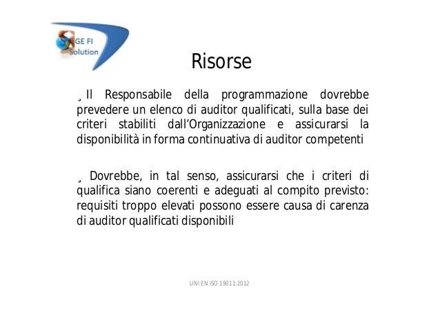 La nuova norma UNI EN ISO 19011 2012