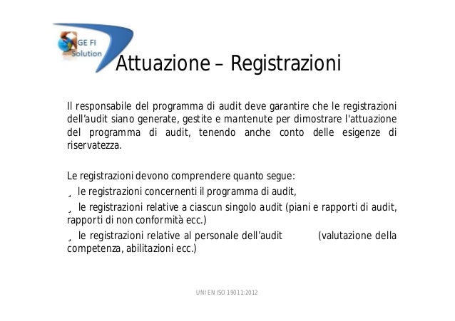 ISO - Guidelines for auditing management systems