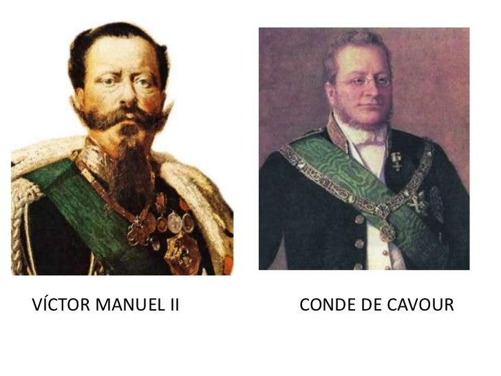 Resultado de imagen para Fotos de Manuel II, el Conde de Cavour