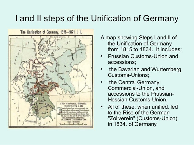 Thesis statement for the unification of germany