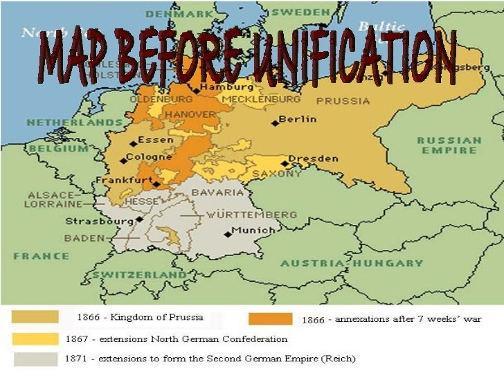 Unification Of Germany Ppt - Germany unification map