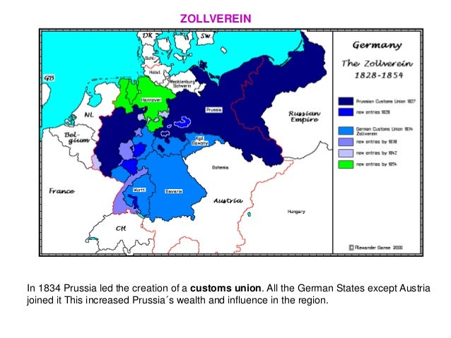 Unifications Of Italy And Germany - Zollverein germany map