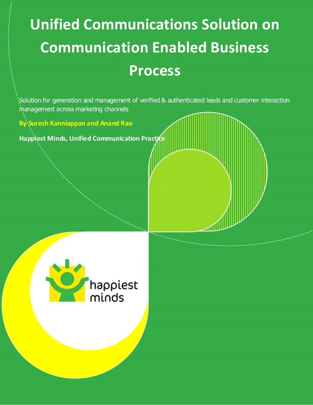 © Happiest Minds Technologies Pvt. Ltd. All Rights Reserved Unified Communications Solution on Communication Enabled Busin...